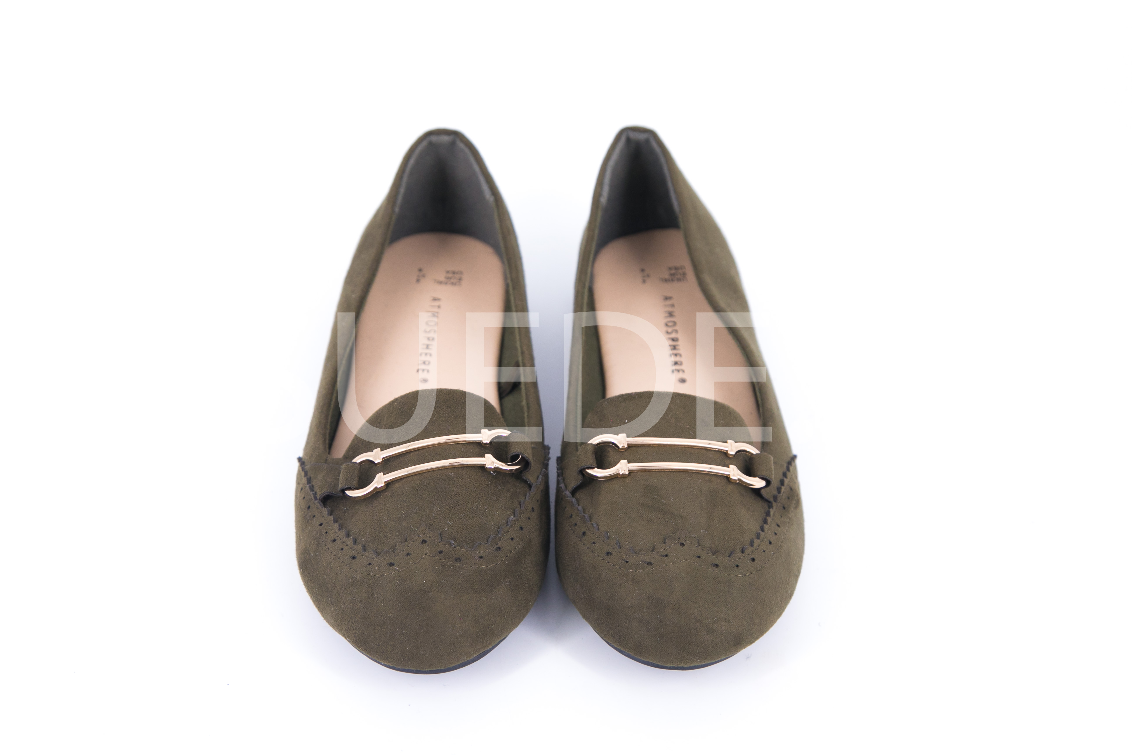 Green Suedette Bar Front Loafers – Suede GH